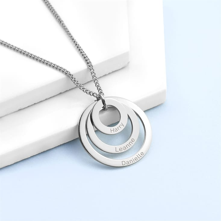 Personalised Rings of Love Necklaces