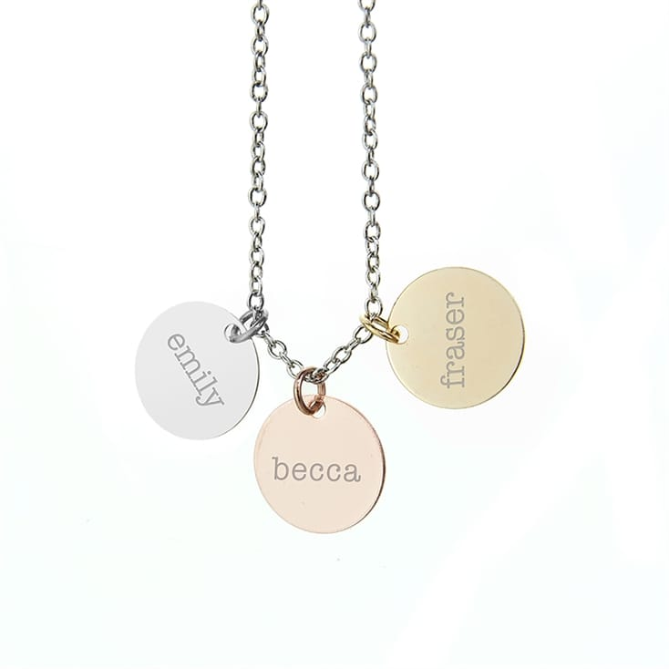 Personalised My Family Three Disc Necklace
