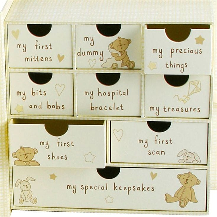 Baby Gift Ideas Keepsake : Baby keepsake box with drawers find me a gift