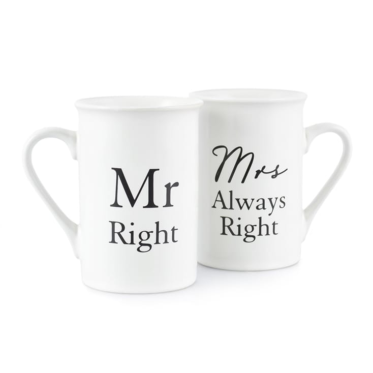 mr right mrs always right mugs