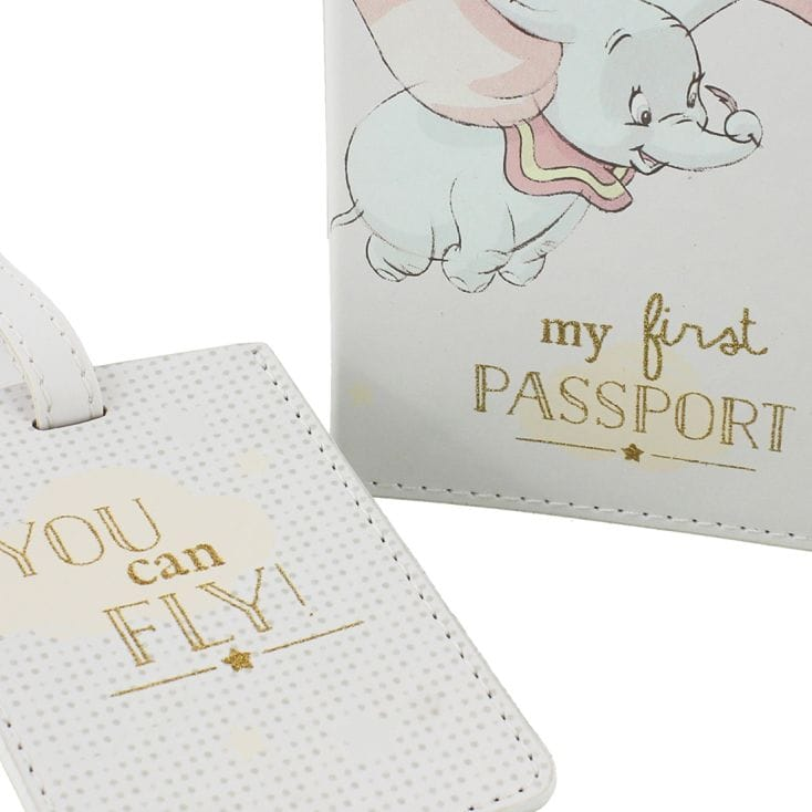 Disney Dumbo My First Passport Cover and Luggage Tag