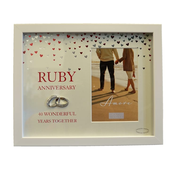 Ruby Wedding Anniversary Gifts Uk: Ruby Anniversary Photo Frame