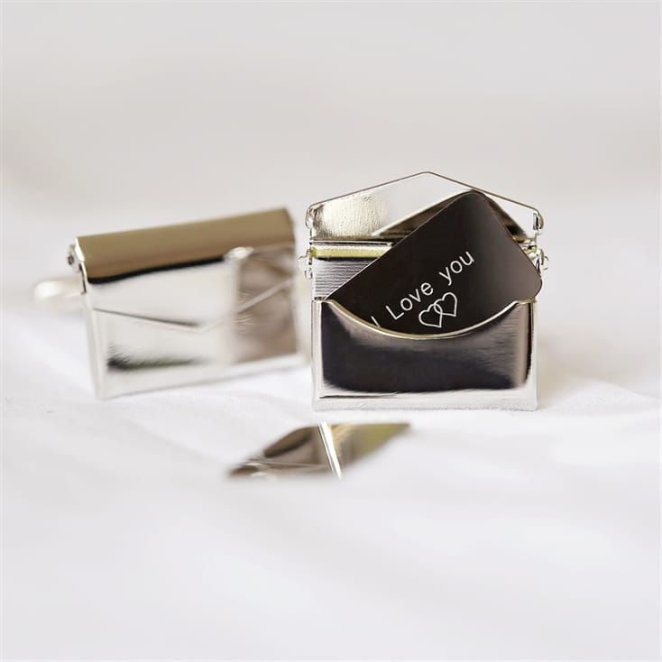 Personalised Secret Message Engraved Cufflinks