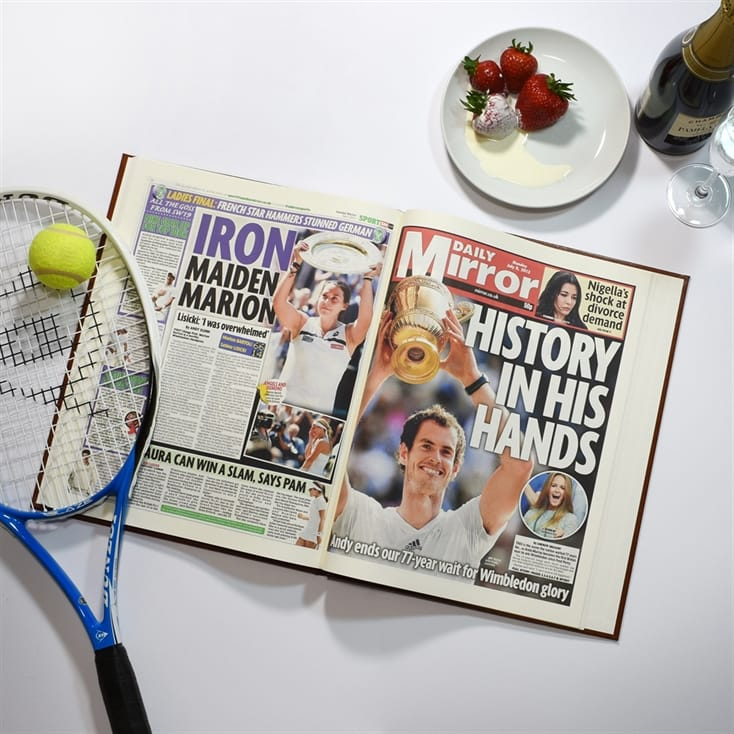 Personalised Sports Newspaper Books