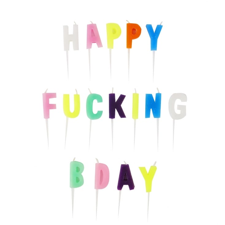 Happy F**king Birthday Candles