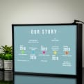 Thumbnail 1 - Personalised Light Box - Our Story Timeline