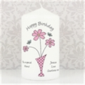 Thumbnail 1 - Personalised Flowers & Vase Candle