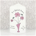 Thumbnail 3 - Personalised Flowers & Vase Candle