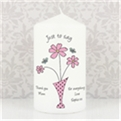 Thumbnail 2 - Personalised Flowers & Vase Candle