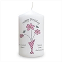 Thumbnail 5 - Personalised Flowers & Vase Candle