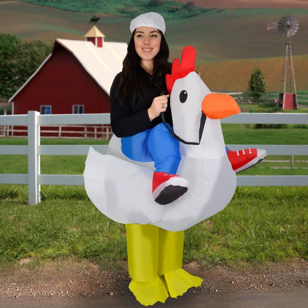 Details about inflatable chicken costume for adults