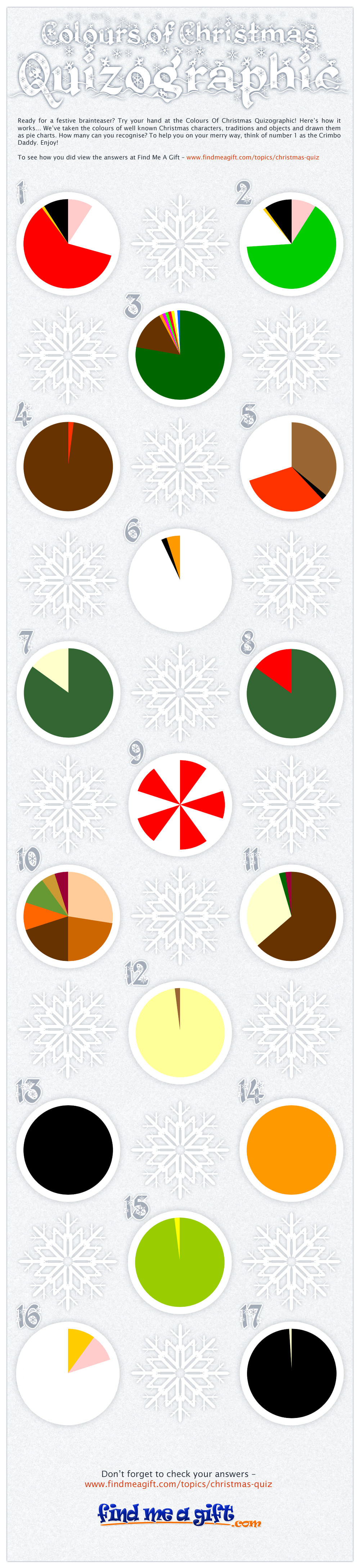 Colours of Christmas Quizographic