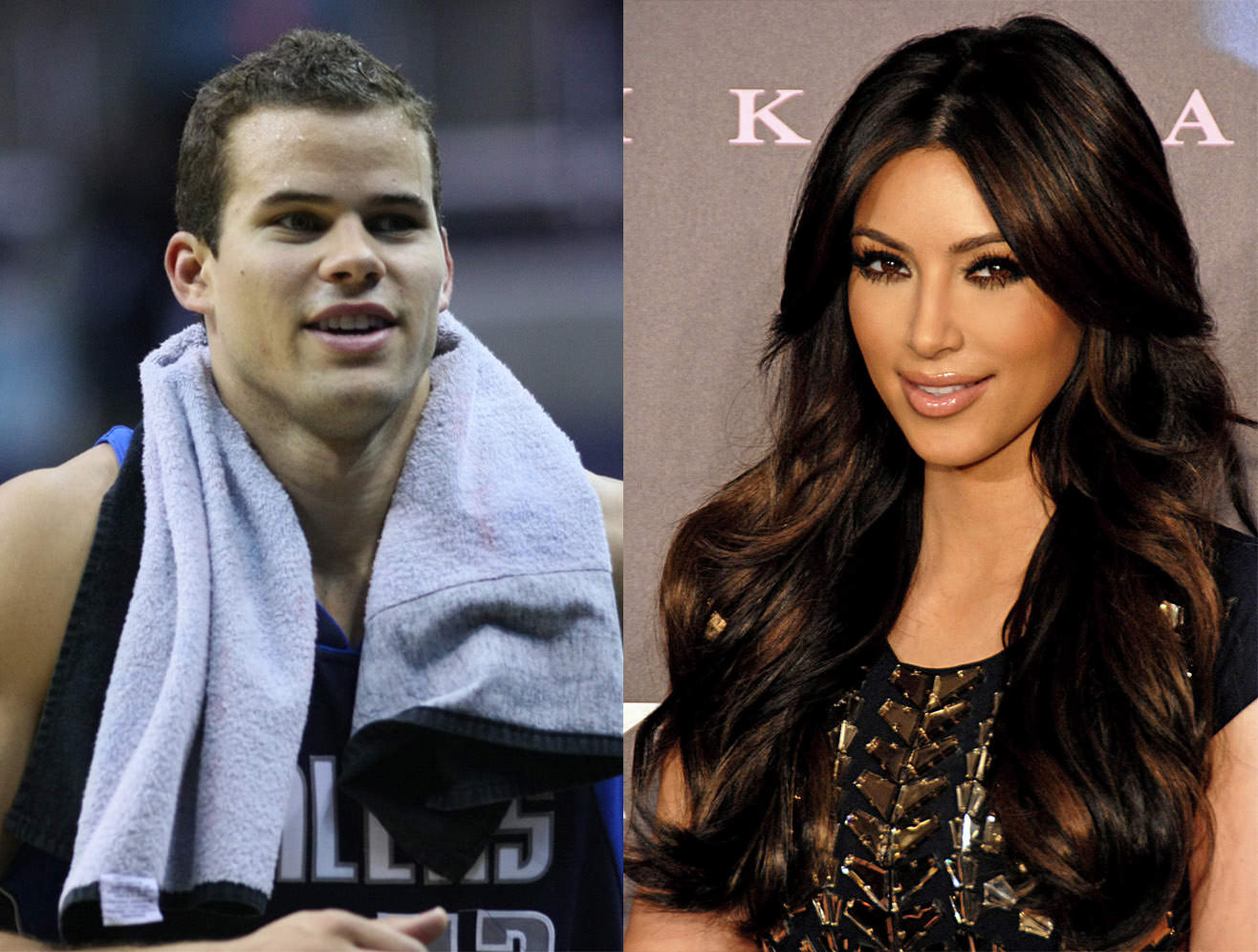 Picture of Kim Kardashian and Kris Humphries