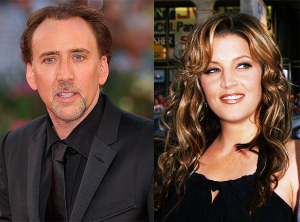 Picture of Nicolas Cage and Lisa-Marie Presley